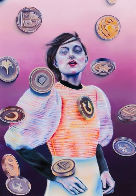 Giada Rotundo - Money-Money. Oil on canvas, 70x100 cm